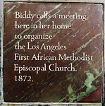 She also donated the land for it. When Biddy died, the church had 300 members. It now has 19,000.