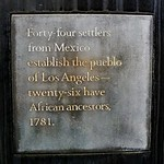 22 adults and 22 children. Two of the adults were full-blooded black. Read about the 44 here - https://en.wikipedia.org/wiki/Los_Angeles_Pobladores